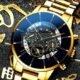 Gold Colour Business Calender Wrist Watch For Men